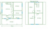 Проект каркасно-щитового дома «Важины»