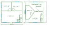 Проект каркасно-щитового дома «Васкелово»