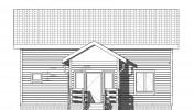 Проект каркасно-щитового дома «Владимировка»