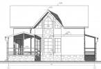 Проект каркасно-щитового дома «Колтуши»