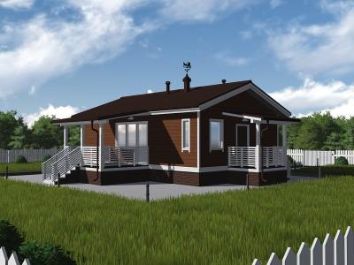 Проект каркасно-щитового дома «Глажево»