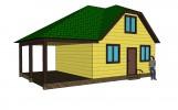 Проект дома из бруса «Васьково»