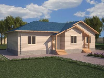 Проект дома из бруса «Каменногорск»