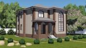 Проект каркасно-щитового дома «Касколовка»