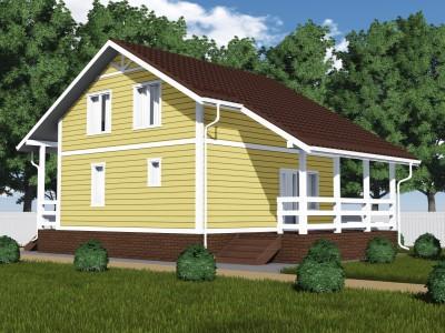 Проект дома из бруса «Волошово»