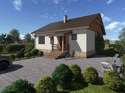 Проект каркасно-щитового дома «Исаково»