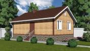 Проект каркасно-щитового дома «Кирпичное»