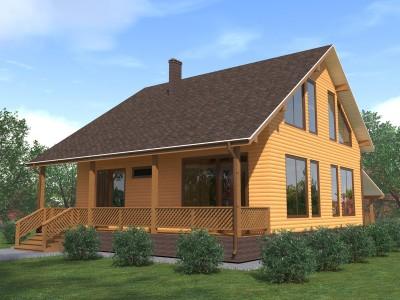 Проект дома из бруса «Заборье»