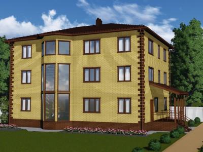 Проект каркасно-щитового дома «Коммунары»