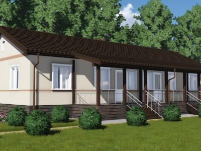Проект каркасно-щитового дома «Кондратьево»