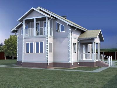 Проект дома из бруса «Городок»
