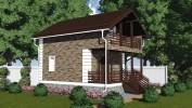 Проект каркасно-щитового дома «Колбеки»