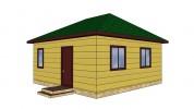 Проект каркасно-щитового дома «Алексино»