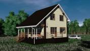 Проект каркасно-щитового дома «Зайцево»