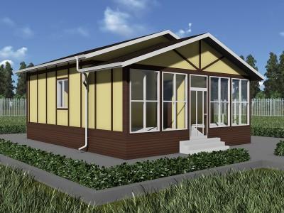 Проект каркасно-щитового дома «Горка»