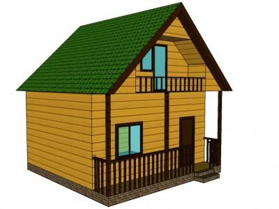 Проект дома из бруса «Андреево»