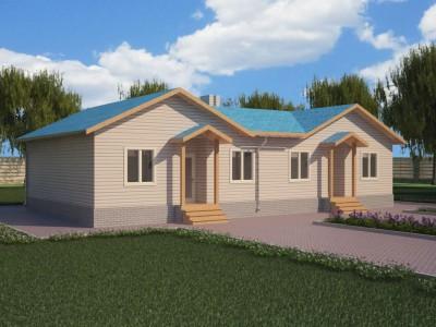 Проект каркасно-щитового дома «Кирилловское»