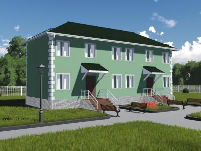 Проект каркасно-щитового дома «Корбеничи»