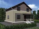 Проект каркасно-щитового дома «Иссад»