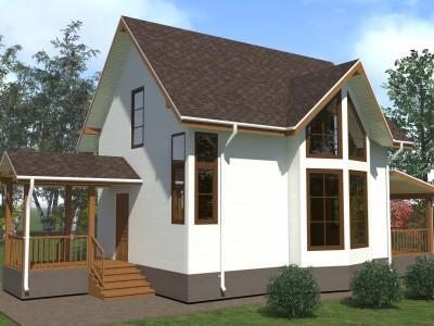 Проект каркасно-щитового дома «Загубье»