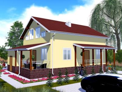 Проект каркасно-щитового дома «Гостилицы»