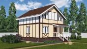 Проект дома из бруса «Володарское»