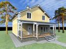 Проект каркасно-щитового дома «Вырица»