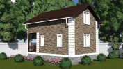 Проект каркасно-щитового дома «Комсомолец»