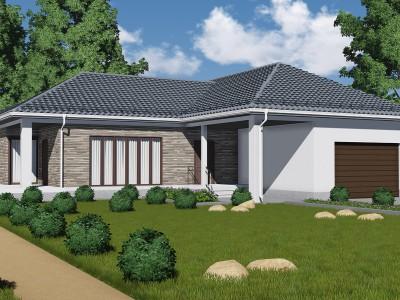 Проект каркасно-щитового дома «Климово»