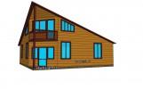 Проект каркасно-щитового дома «Веймарн»