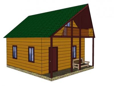 Проект каркасно-щитового дома «Беседа»