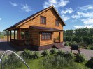 Проект каркасно-щитового дома «Городец»