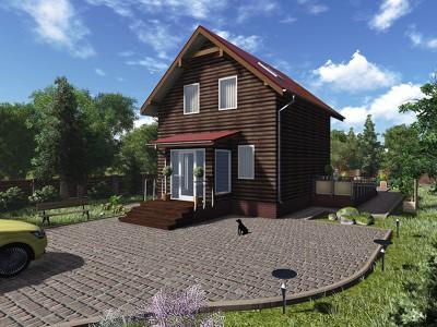 Проект каркасно-щитового дома «Ивановское»