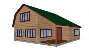 Проект дома из бруса «Ваганово»