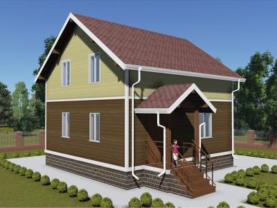 Проект дома из бруса «Кармановская»