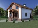 Проект каркасно-щитового дома «Григино»
