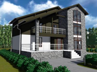 Проект каркасно-щитового дома «Житково»