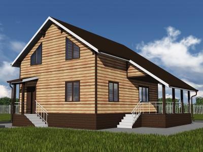 Проект каркасно-щитового дома «Глебычево»