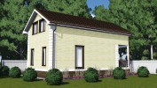 Проект каркасно-щитового дома «Коммунар»