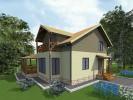 Проект каркасно-щитового дома «Кипень»