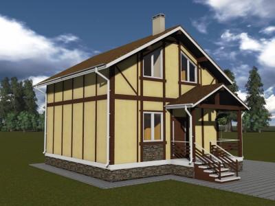 Проект каркасно-щитового дома «Коли»