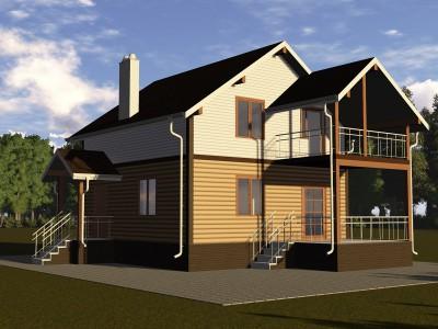 Проект дома из бруса «Выскатка»