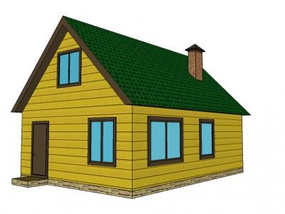 Проект каркасно-щитового дома «Бережки»