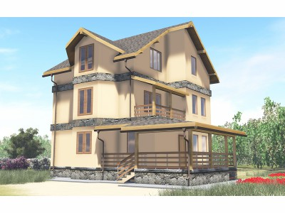 Проект дома из бруса «Заручье»
