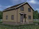 Проект каркасно-щитового дома «Городище»