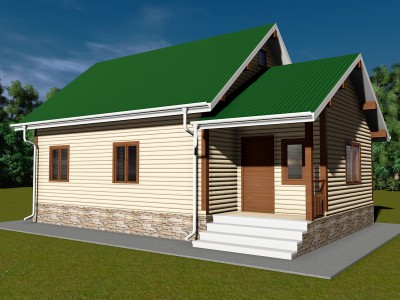 Проект каркасно-щитового дома «Виллози»