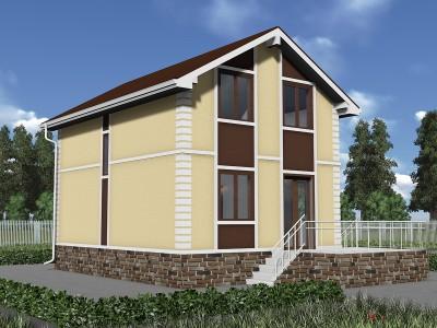 Проект каркасно-щитового дома «Волочаевка»