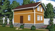 Проект каркасно-щитового дома «Кипрушино»