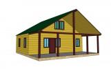 Проект дома из бруса «Важины»