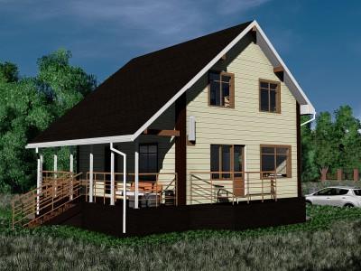 Проект дома из бруса «Зайцево»